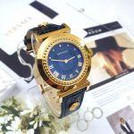 Versace Vanity Gold Blue Leather Women's Watch P5Q80D282S282
