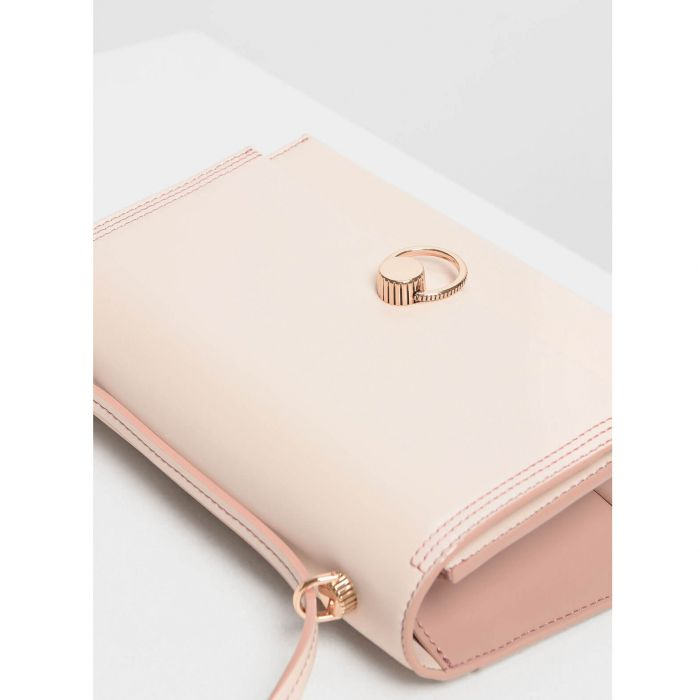 Charles & Keith Classic Shoulder Light Pink Bag CK2-20780763
