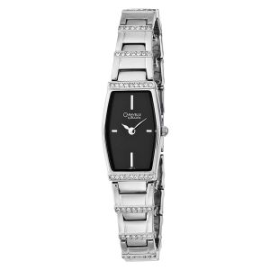 Caravelle By Bulova Crystal Accented Black Dial Women's Watch 43T17