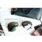 Ray-ban Crystal Aviator Lens Xanh Gọng Vàng RB3689 914731 58