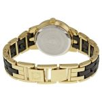 Anne Klein Goldtone and Black Ceramic Bracelet Women's Watch AK/1610BKGB