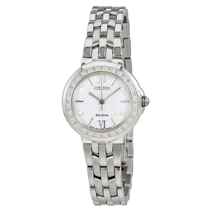 Citizen Sihouette Diamond Silver  Women's Watch EM0440-57A
