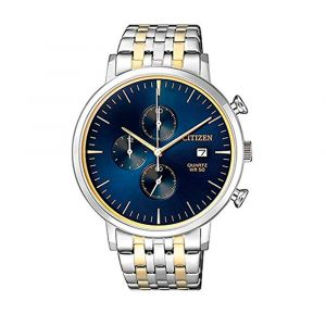 Citizen Chronograph Totalizer Two Tone Blue Dial Men's Watch AN3614-54L
