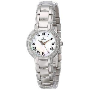 Bulova Mother of Pearl Diamond Stainless Steel Women's Watch 96R159
