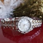 Bulova Mother Of Pearl Silver Swarovski Women's Watch 96L116