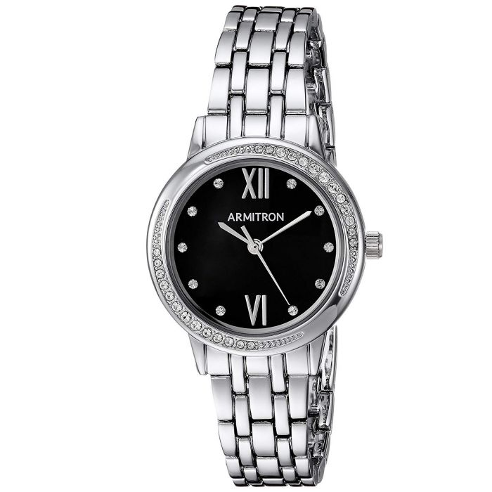 Armitron Swarovski Crystal Black Dial Women's Watch 75/5516JMSV