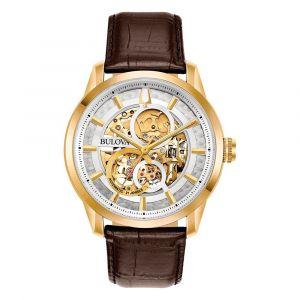 Bulova Classic Sutton Automatic Brown Leather Men's Watch 97A138