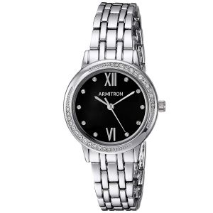 Armitron Swarovski Crystal Black Dial Women's Watch 75/5516JMSV
