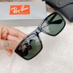 Ray-ban Classic Rectangular Green Gọng Nhựa Màu Đen RB4228 601/71 58