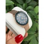 Anne Klein Swarovski Crystal Rose Gold Mesh Women's Watch AK/2208NMRG