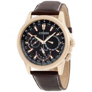 Citizen Calendrier Brown Leather Men's Watch BU2023-04E