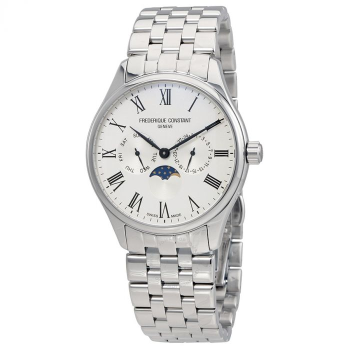 Frederique Constant Classic Silver Dial Moon Phase FC-260WR5B6B