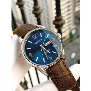 Armitron Croco-Grain Day Date Function Brown Leather Men's Watch 20/5048NVSVBN