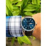 Armitron Croco-Grain Day Date Function Brown Leather Men's Watch 20/5048NVSVBN