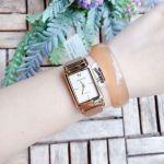 Anne Klein Diamond Accented Gold Mesh Bracelet Women's Watch AK/2970CHGB