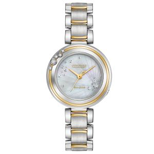 Citizen Carina Mother of Pearl Two Tone Women's Watch EM0464-59D