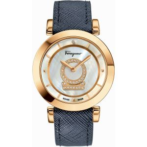 Salvatore Ferragamo Diamond Minuetto Mother Of Pearl Women's Watch FQ4060013