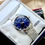 Seiko Blue Dial Date Stainless Steel Men's Watch SUR207