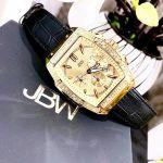 JBW Echelon Mặt Chữ Nhật Màu Vàng Dây Da Màu Đen Lịch Ngày J6379E
