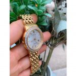 Citizen Eco-Drive Silhouette Diamond Gold Analog with Date Women's Watch EW2282-52D