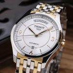 Tissot T-One Automatic Mặt Tròn Dây Kim Loại Màu Bạc Pha Vàng Lịch Ngày Thứ T038.430.22.037.00