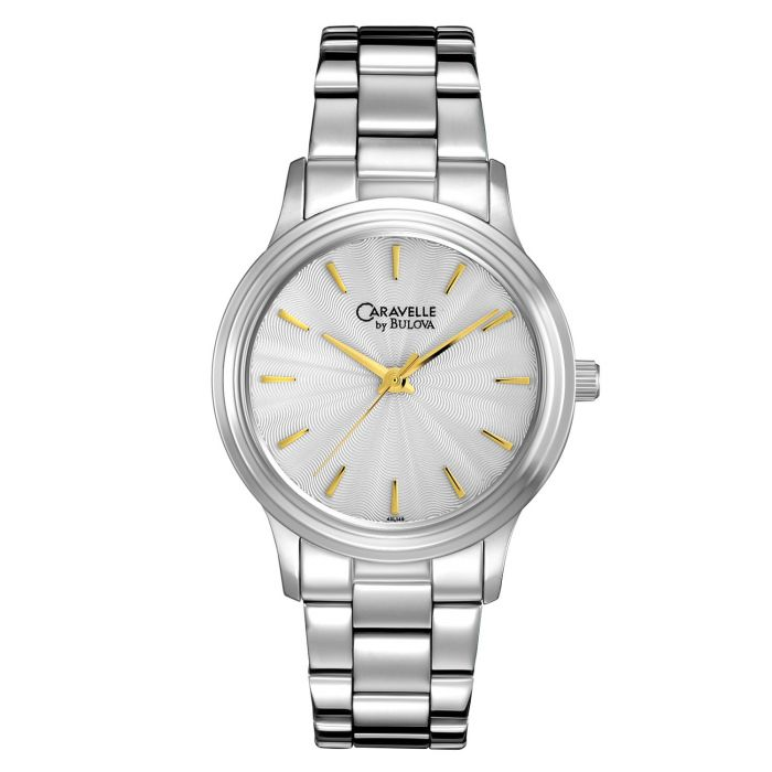 Caravelle By Bulova Sun Burst Round Women's Watch 43L149