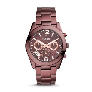 Fossil Perfect Boyfriend Sport Multifunction Wine Stainless Steel Women's Watch ES4110