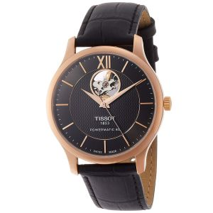 Tissot Tradition Automatoic Anthracite Powermatic 80 Open Heart Men's Watch T063.907.36.068.00