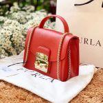 Furla Metropolis Top Handle Mini Màu Đỏ Cam Vermiglio Size 17