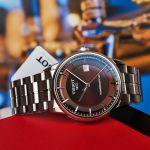 Tissot Luxury Powermatic 80 Automatic Mặt Tròn Màu Nâu Dây Kim Loại Màu Bạc Lịch Ngày T086.407.11.291.00