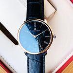 Maurice Lacroix Les Classiques Tradition Automatic Mặt Tròn Viền Vàng Dây Da Màu Đen Lịch Ngày LC6067-PS101-310-1