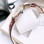 Versace V-Circle Manifesto Love Mặt Tròn Màu Trắng Dây Da Màu Đỏ VBP020017