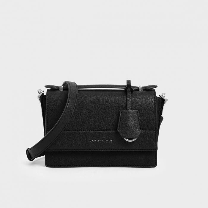 Charles & Keith Front Handle Màu Đen CK2-51190005-2