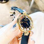 Versus by Versace Kristenhof Mặt Tròn Viền Vàng Dây Da Màu Xanh SP49020018