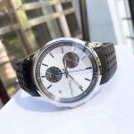 Calvin Klein Bold Chronograph Mặt Tròn Màu Bạc Dây Da Màu Đen Lịch Ngày K5A371C6