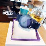 Movado Bold Mặt Tròn Dây Da Màu Xanh 3600370