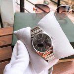 Calvin Klein Supreme Mặt Tròn Màu Đen Dây Kim Loại Màu Bạc K6C2X141