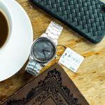 Tissot T-Classic Luxury Automatic Mặt Tròn Màu Đen Xám Dây Kim Loại Lịch Ngày T086.407.11.061.00
