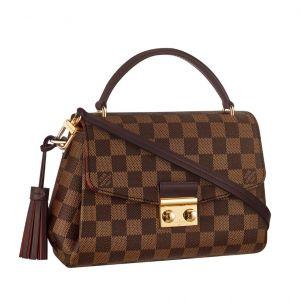 Louis Vuitton Croisette Damier Ebene Màu Nâu Lòng Đỏ Xách Tay Đeo Vai N53000