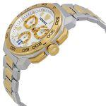 Versace Dylos Chronograph Demi Vàng Mặt Tròn Dây Kim Loại Lịch Ngày VQC030015