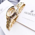 Swarovski Alegria Mặt Tròn Dây Kim Loại Màu Vàng 5188840