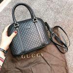 Gucci Microguccissima Hến Màu Đen 449654 BMJ1G