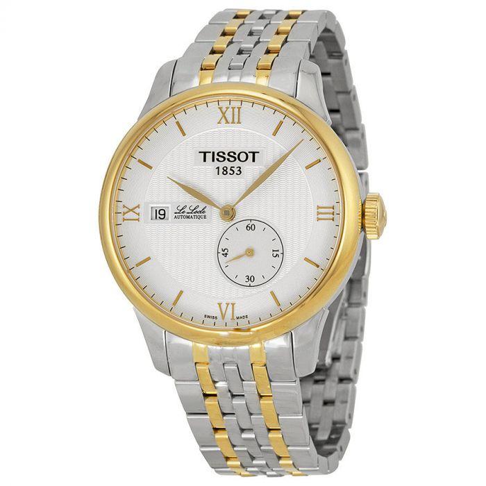 Tissot Le Locle Automatic Demi Vàng Mặt Tròn Dây Kim Loại Lịch Ngày T006.428.22.038.00