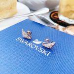 Swarovski Mini Pierced Thiên Nga Màu Vàng Hồng 5144289