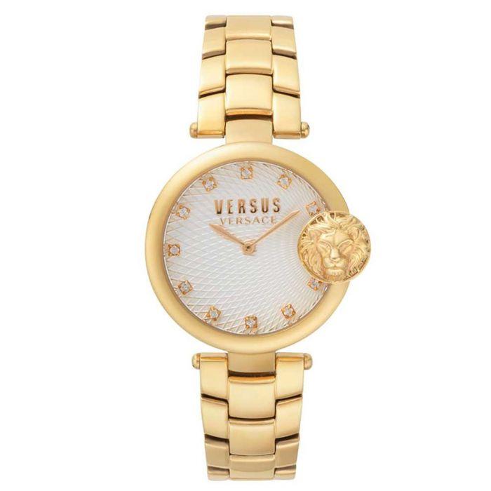 Versus by Versace Buffle Bay Mặt Trắng Dây Kim Loại Màu Vàng VSP871118