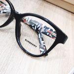 Burberry Cat Eye Màu Đen Gọng Hoạ Tiết BE2278
