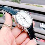 Frederique Constant Runabout Chronograph Automatic Mặt Tròn Màu Bạc Dây Da Màu Xanh Lịch Ngày FC-392MS5B6