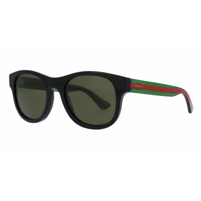 Gucci Sunglasses Gọng Đen Mắt Vuông Màu Xanh GG0003S 002 52