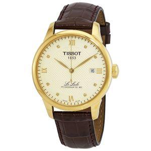 Tissot Le Locle Automatic Mặt Tròn Viền Vàng Dây Da Màu Nâu Lịch Ngày T006.407.36.266.00