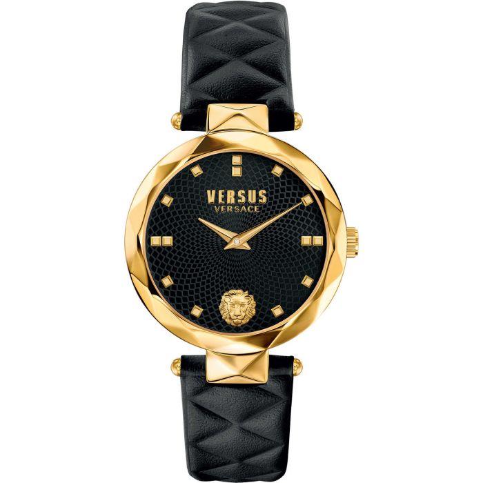 Versus by Versace Covent Garden Mặt Tròn Dây Da Màu Đen SCD050016